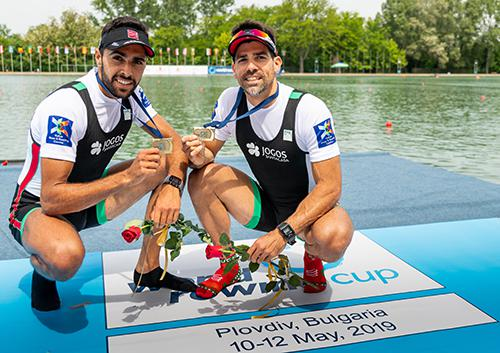 Pedro Fraga e Afonso Costa - Medalha de Bronze na Taça do Mundo I, em Plovdiv, Bulgária