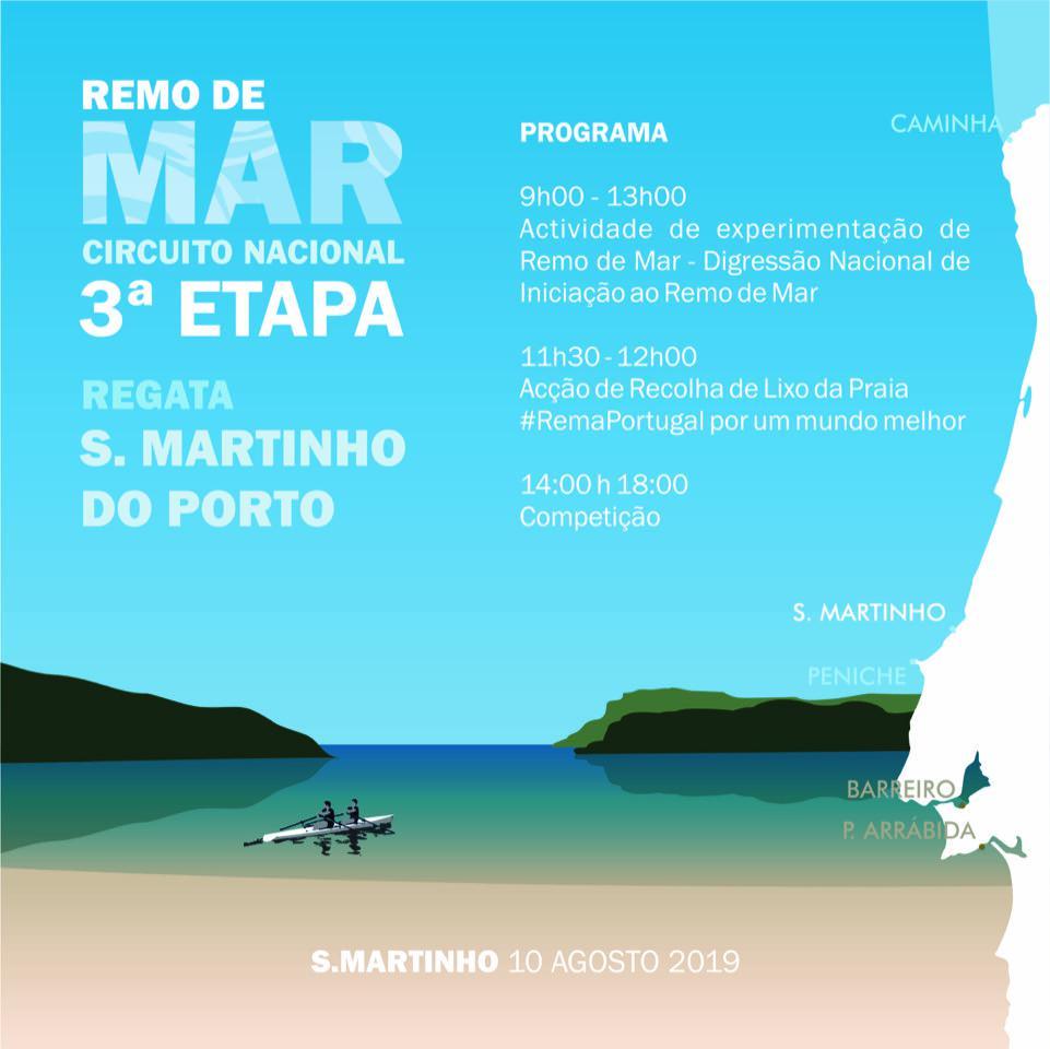 3ª Etapa do Circuito Nacional de Remo de Mar - S. Martinho do Porto